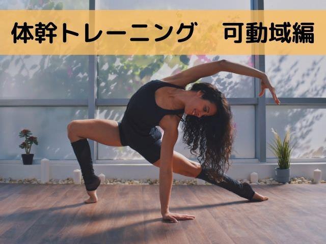 体幹トレーニング 可動域編
