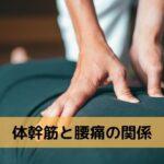 体幹筋と腰痛の関係